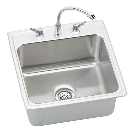 Single Basin Kitchen Sink Elkay Dlh222210c Lustertone Package Single Basin Kitchen Sink Lowe S Canada