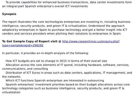 Spending Pattern In Spanish | ict investment trends in spain enterprise ict spending