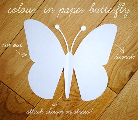 Butterfly With Paper - craft paper butterfly with template paper
