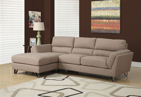 light brown sectional sofa light brown linen sofa sectional from monarch 8210lb