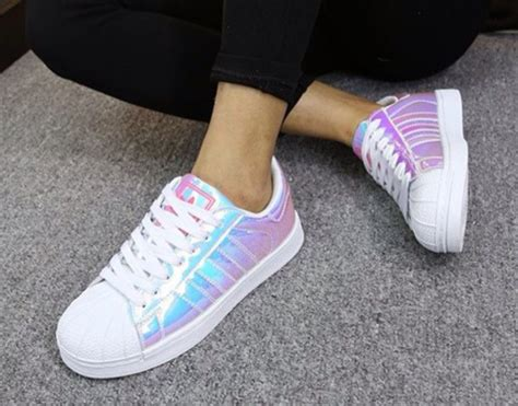 shoes superstar holographic adidas wheretoget