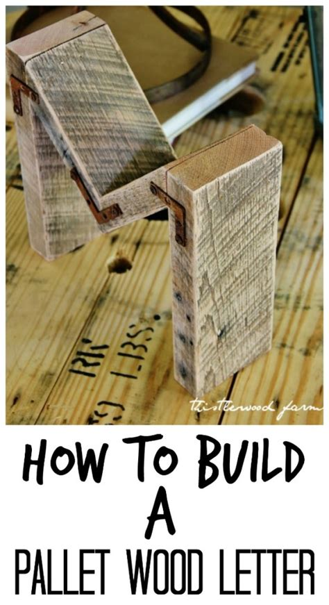 how to build a pallet wood letter simple easy diy