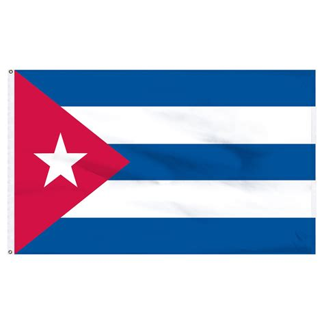 cuban cuba flag cuba 4ft x 6ft nylon flag with indoor pole hem and fringe