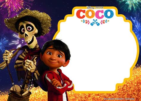 coco download movie awesome free printable disney coco birthday invitation
