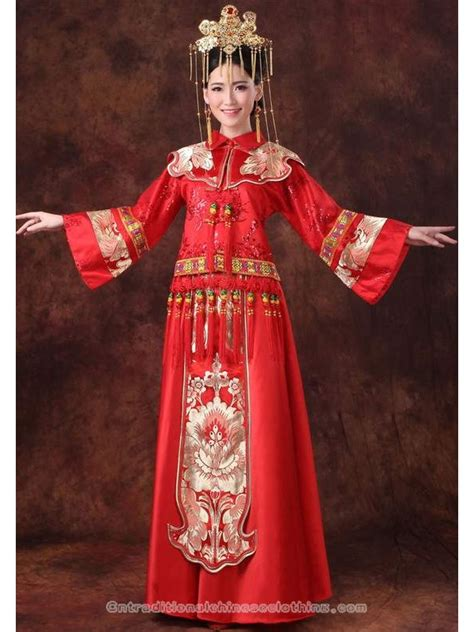 gothic wedding dresses chinese clothing chinese dress floral brocade chinese knots traditional red chinese