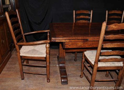 farmhouse kitchen dining set refectory table set 6