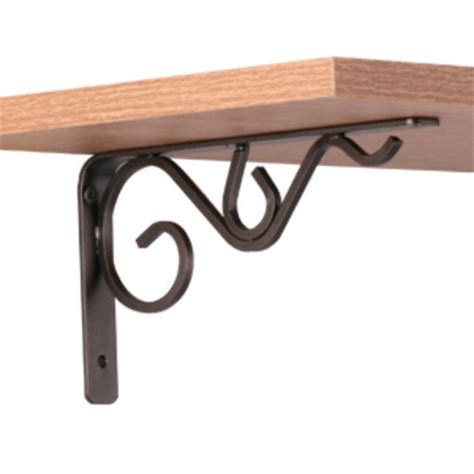 decorative shelf brackets 8 quot bronze iron decorative shelf bracket at menards 174