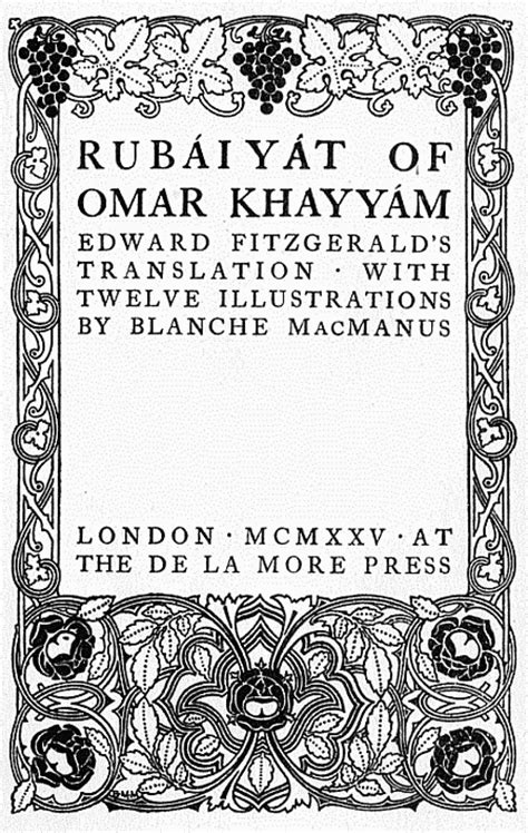 rub iy t of omar khayy m the and fourth renderings in verse classic reprint books awake my ones and fill the cup by omar khayyam