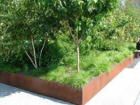 corten steel planter box landscaping pinterest