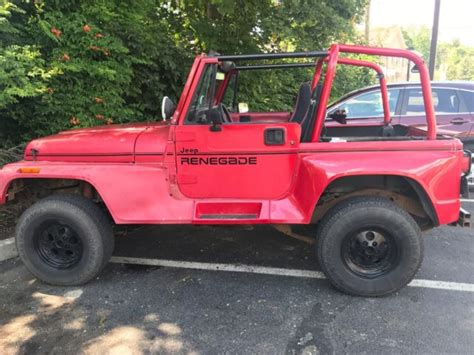 4 0 Liter Jeep Engine For Sale 1992 Jeep 4x4 Renegade Yj Hardtop Auto 4 0 Liter Rat