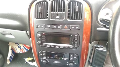 chrysler dodge grand voyager caravan 2004 2001 2007 radio removal youtube