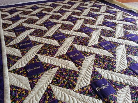 a feathery crown royal quilt cline quilting