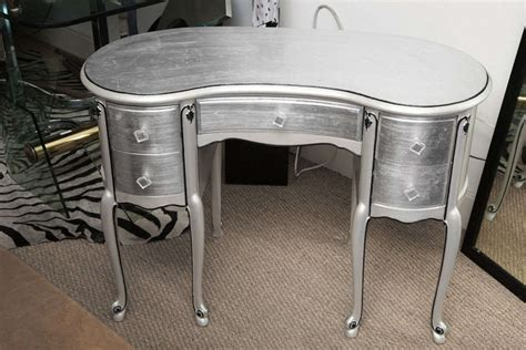 Silver Vanity Table Silver Leaf Style Kidney Shape Vanity Desk At 1stdibs