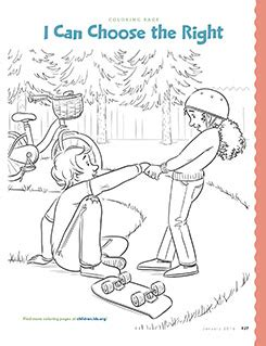 choose the right coloring page primarily inclined primary 2 lesson 14 to choose the right