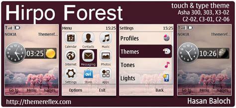 nokia c2 06 themes zedge android theme for nokia asha 303 hirpo forest theme for nokia asha 300 303 x3 02 c2 02