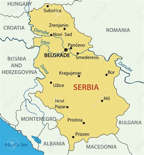 map of serbia motorcycle hire and motorbike rental in serbia belgrade
