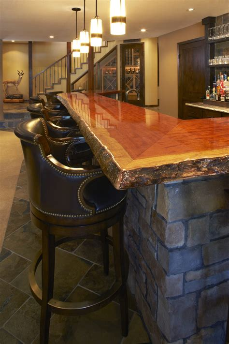 modern bar tops wood bar tops basement with arches basement finishing