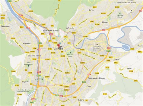 map of grenoble grenoble map