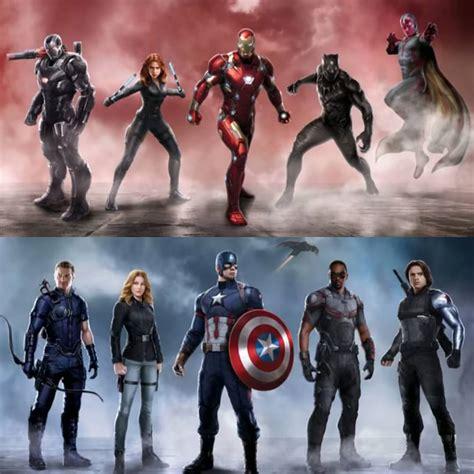 A4 Civil War Team A the civil war begins trailer for captain america civil war released the second take