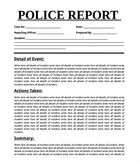 sle police report 7 documents in word pdf