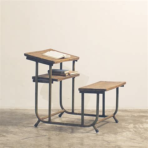 School Desk L by Vintage Primary School Desk Roots Galleria