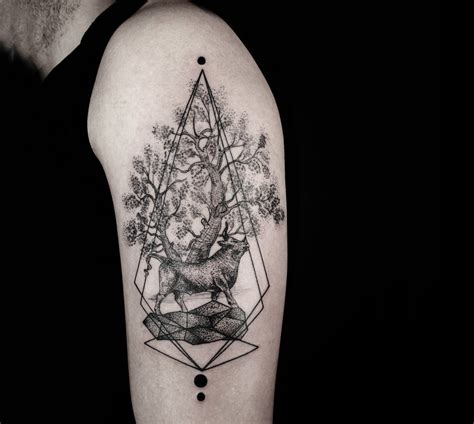 Minimalist Design Principles by Lines And Dots The Blackwork Of Tattooer Okan Uckun