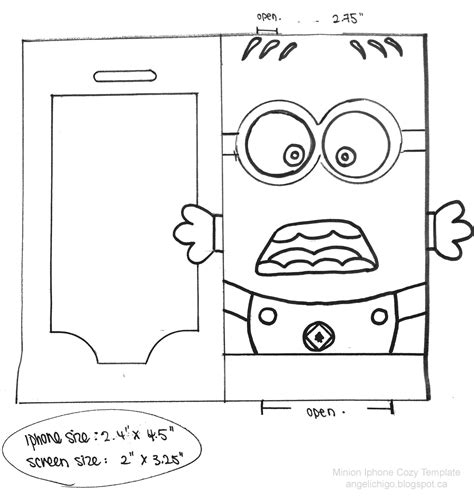 printable minion templates 6 best images of minion bookmark template printable