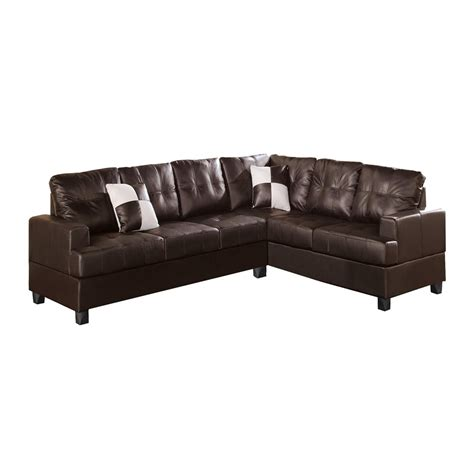 bobkona sectional poundex furniture f76 bobkona karen reversible sectional