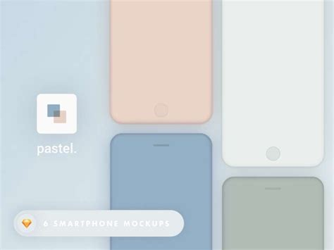 colored iphone pastel colored iphone mockups designermill
