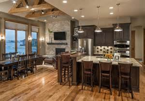 Rustic modern lake house transitional kitchen omaha by core