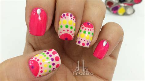 imagenes de uñas mal pintadas f 225 cil y r 225 pido dise 241 o con puntos decoracion de u 241 as con