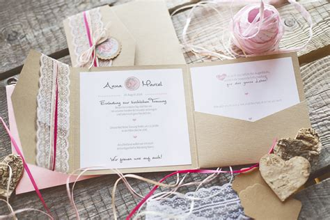 Hochzeitseinladung Pocket Folder rustikale pocket fold einladungen kreativliebe