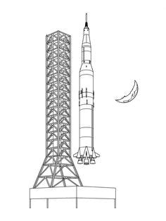 Saturn V Coloring Page by Saturn V Rocket Picture And Coloring Pages For Kid 124