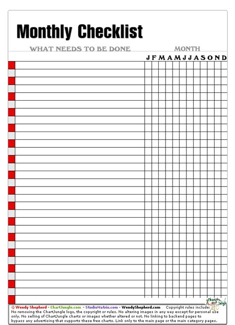 monthly checklist xgif
