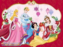 Disney Princess Christmas Characters