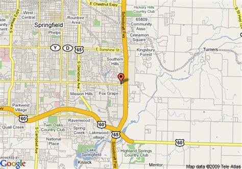 map of comfort map of comfort inn springfield springfield