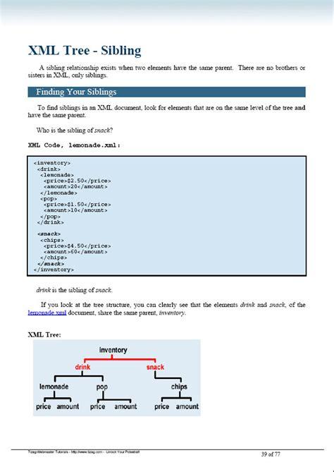 ebook xml format xml ebook tizag com