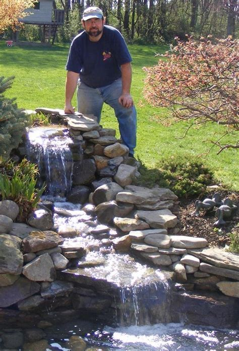 backyard waterfalls and ponds   Found on