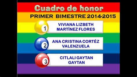 cuadro de honor video cuadro honor bim i ign 2014 youtube