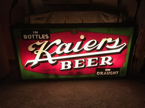 Outdoor Lighted Sign Kaiers Outdoor Lighted Sign Breweriana Aficionado