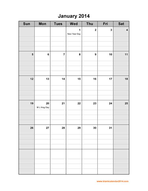 printable weekly calendar portrait 6 best images of printable 2014 monthly calendar portrait