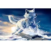 Anime Wolf With Blue Eyes White Fantasy
