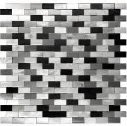 Black Glass Tiles For Kitchen Backsplashes 3d metal aluminum black white gray mosaic kitchen