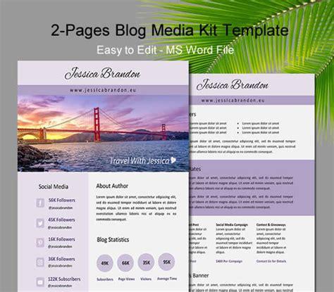 blogger media kit template two page media kit digital