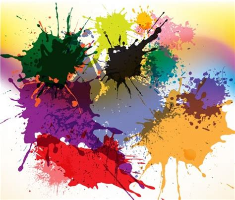 bright paint splatter abstract vector background welovesolo