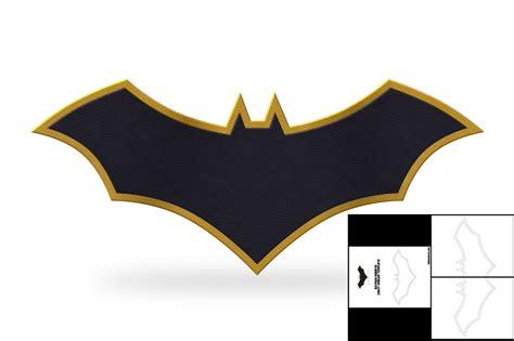 template  batman rebirth chest emblem  foam cave