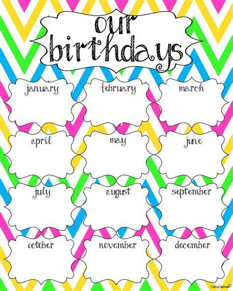 See classroom birthday printables free printable birthday calendar