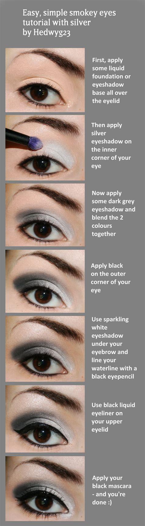 tutorial makeup smokey eyes silver smokey eye make up tutorial cosplay blog with a