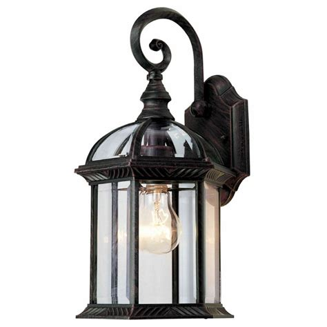 Outdoor Lighting Fixtures Lowes Portfolio 15 1 2 In Outdoor Wall Mounted Light Lowe S Canada