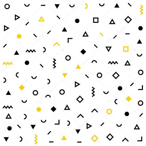 pattern hipster vector hipster memphis pattern with geometric shapes stock